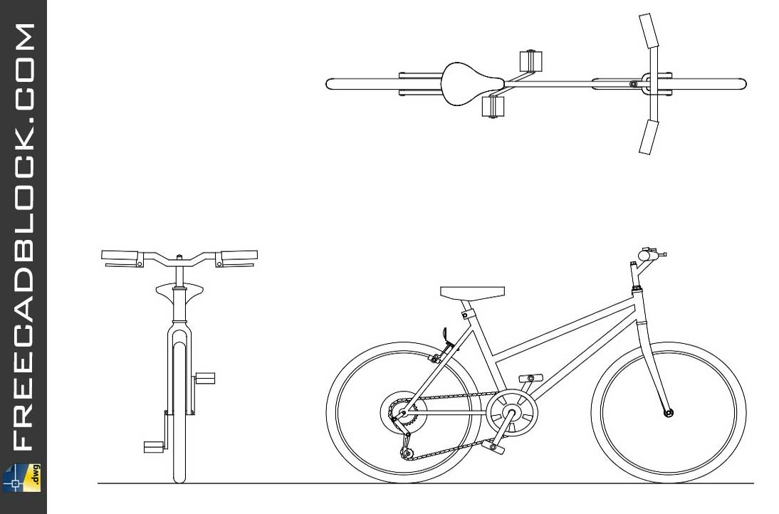 Download Bicycle cad block drawing bike dwg