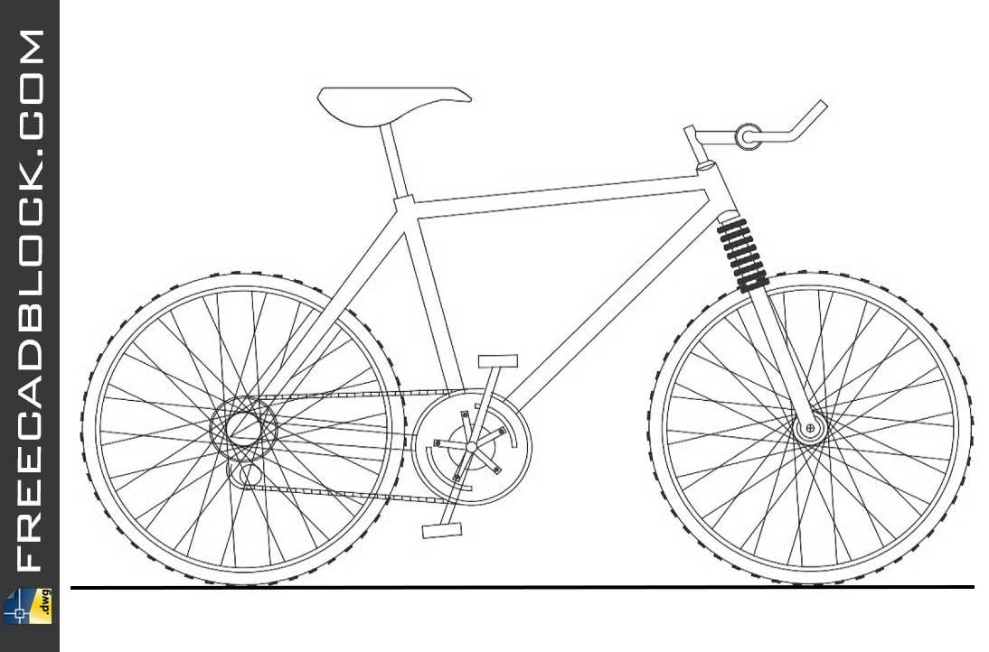 Drawing Cros bike cad dwg