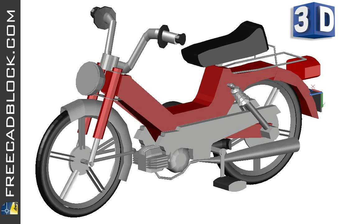 Drawing Ciclomotore 3D dwg