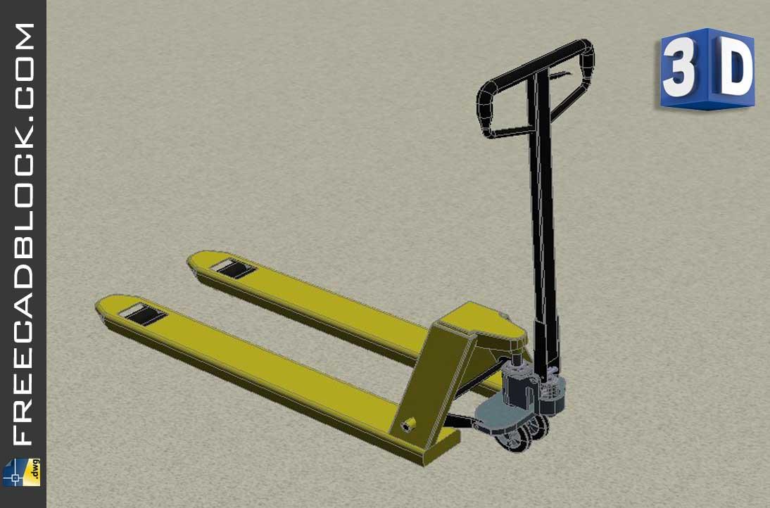 Drawing 3D Pallet truck dnl 10875 dwg