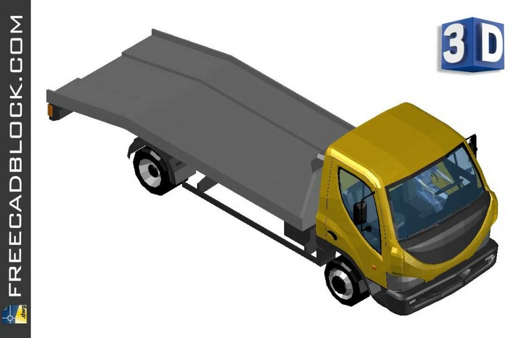 Drawing 3D Tow truck dwg