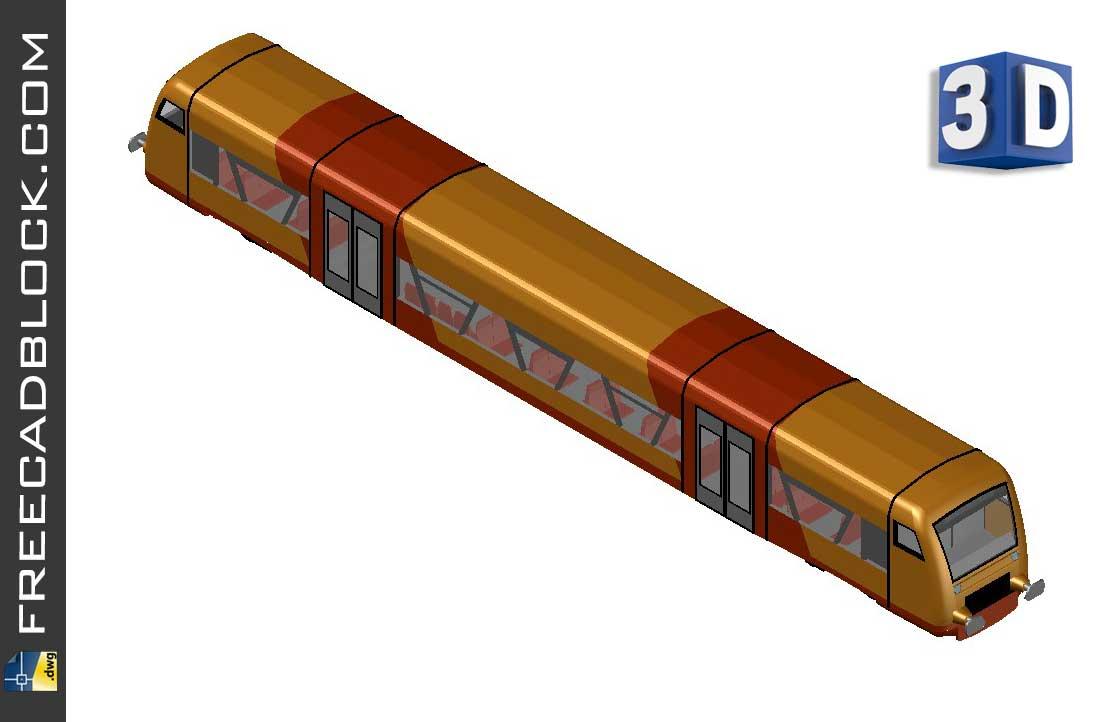 Drawing 3D Tram Dwg