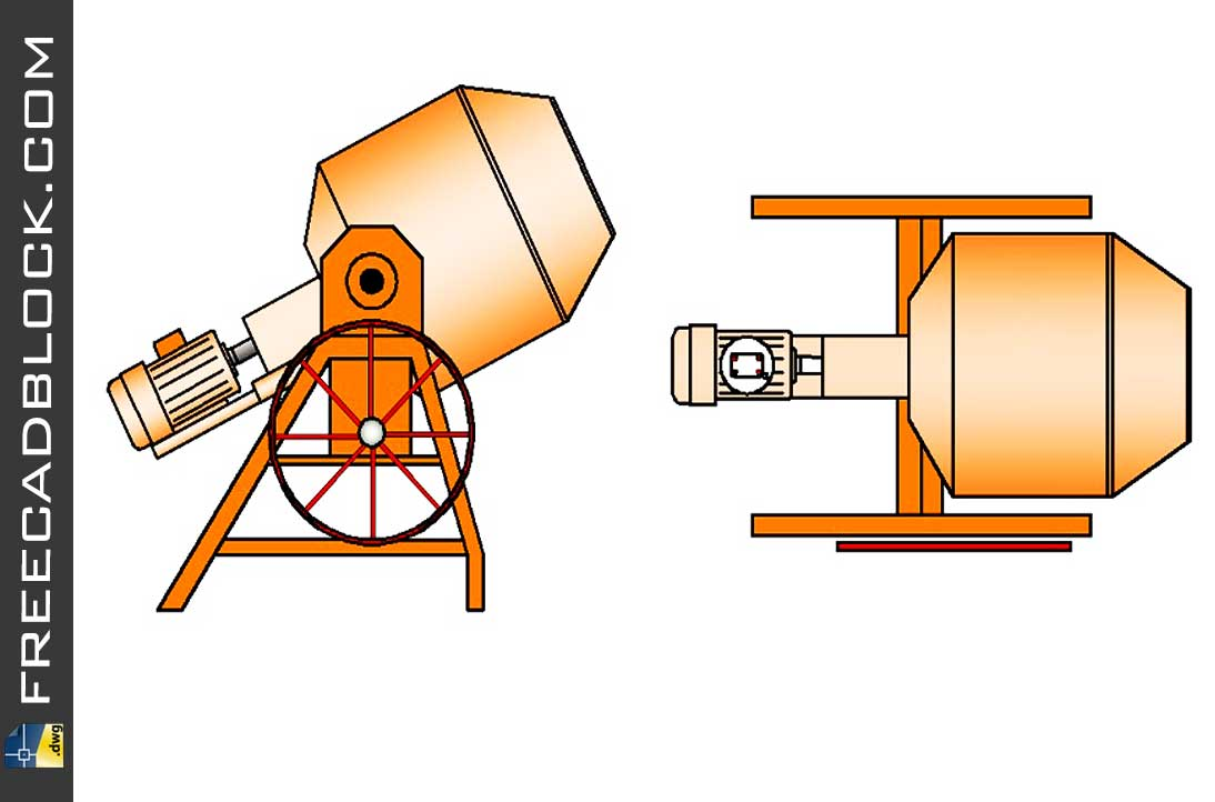 Drawing Concrete mixer cad blocks