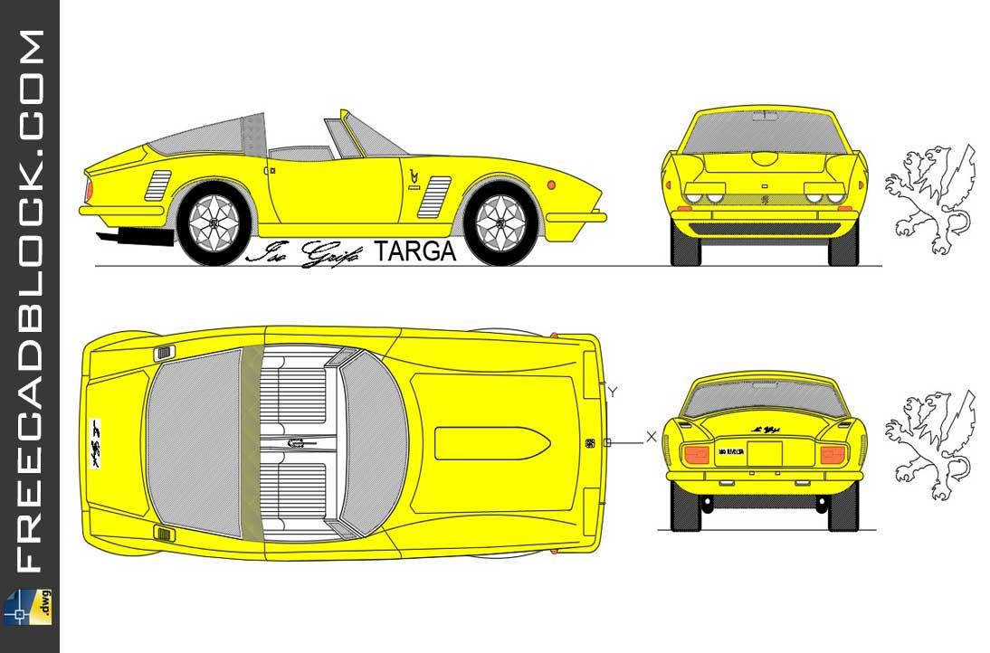 Drawing Rivolta Grifo Targa 1970 dwg