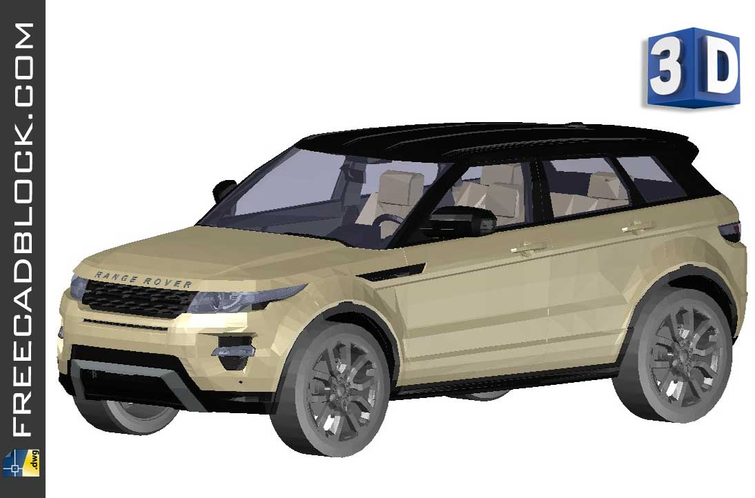 Drawing Range Rover Evoque dwg 3D