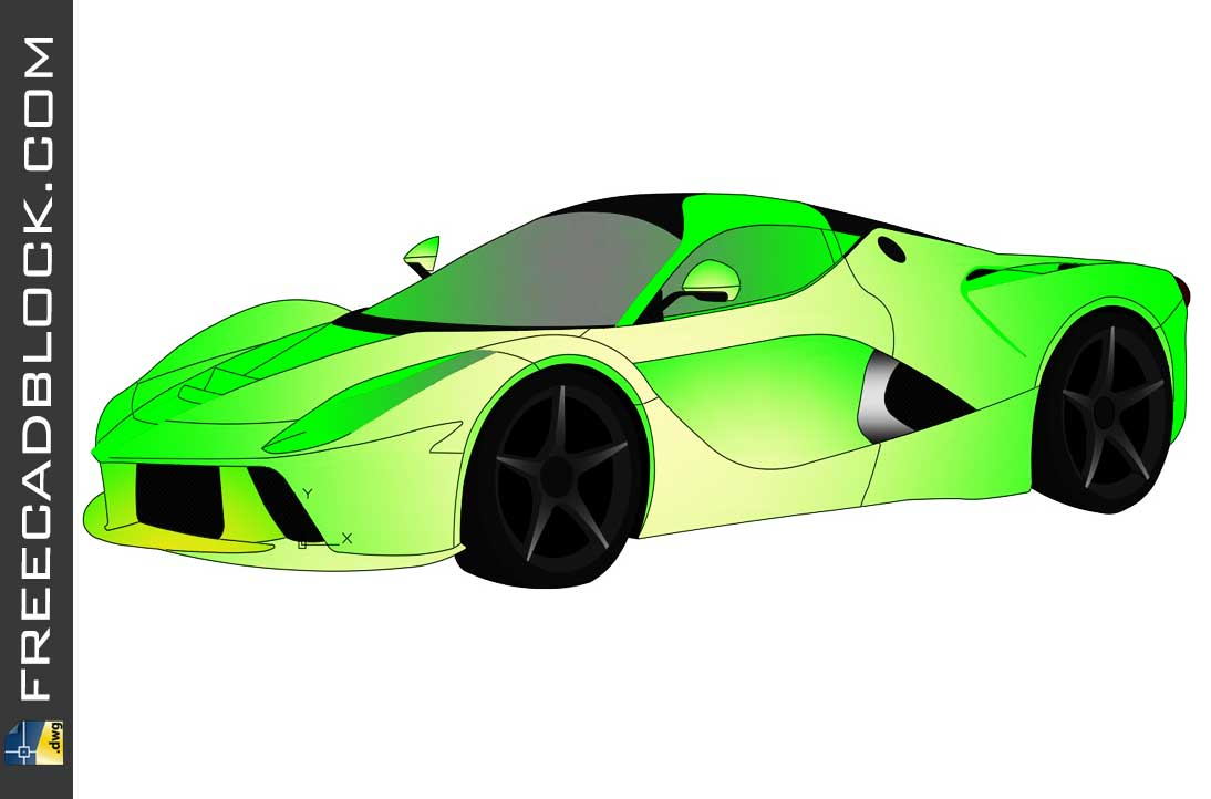 Drawing Ferrari LaFerrari DWG