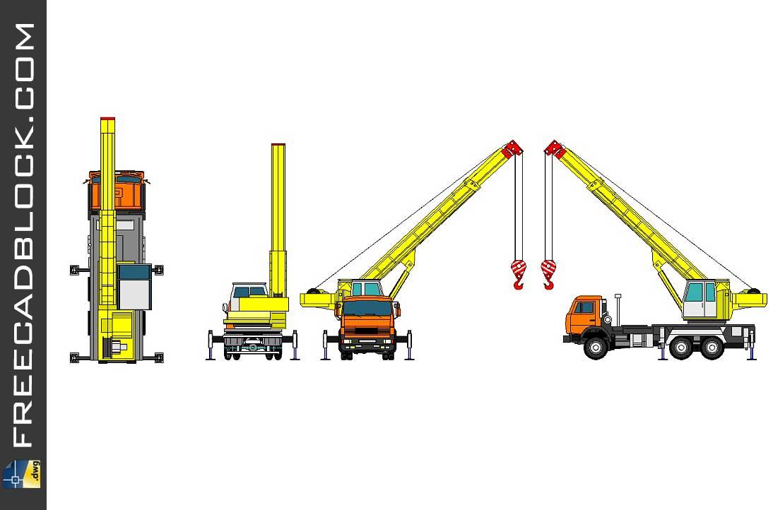 Drawing Mobile crane dwg
