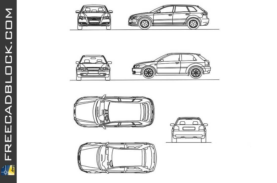 Drawing Audi A3 dwg