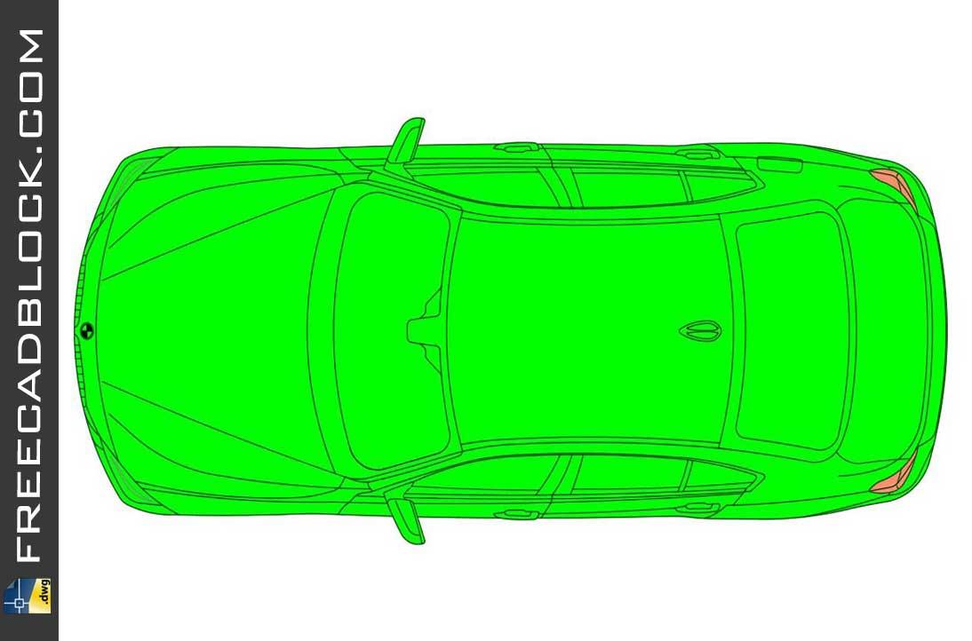 Drawing BMW 328i 2015 dwg in Autocad