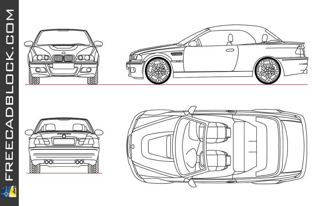 Drawing BMW M3 CONV 2007 dwg