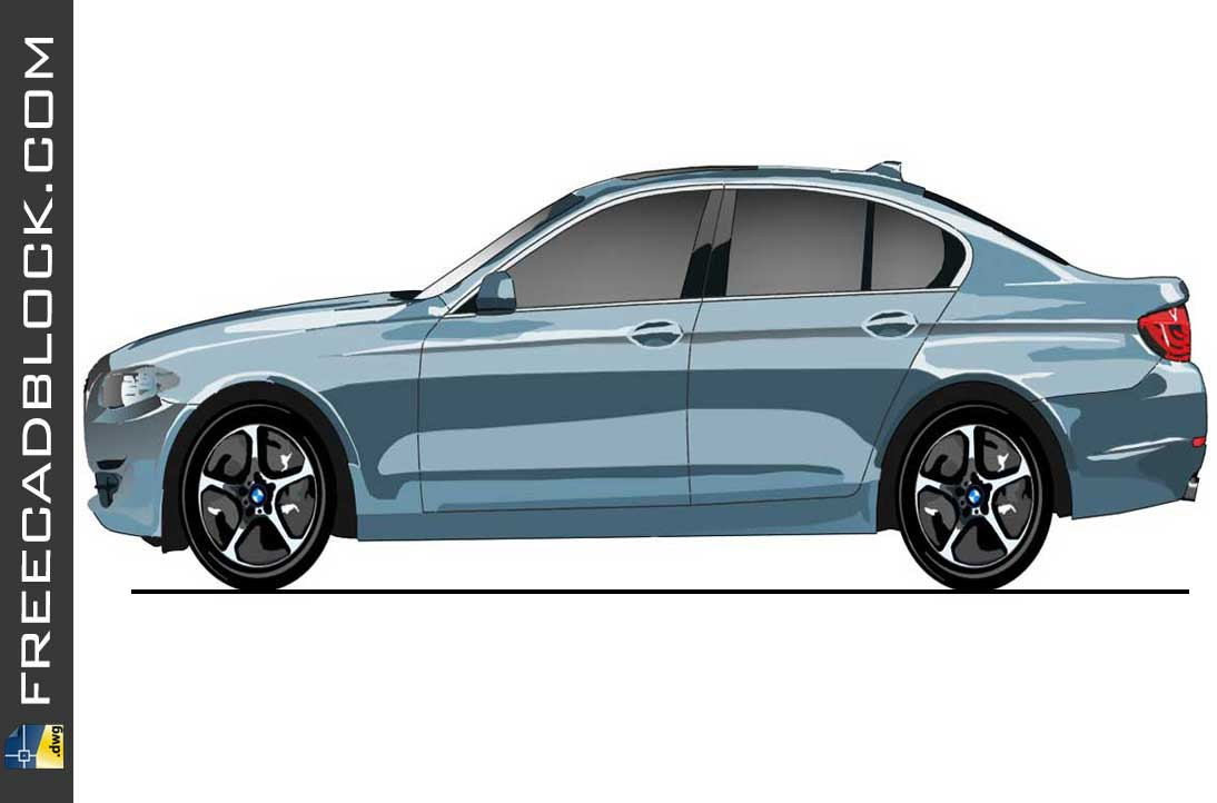 Drawing BMW active hibrid dwg