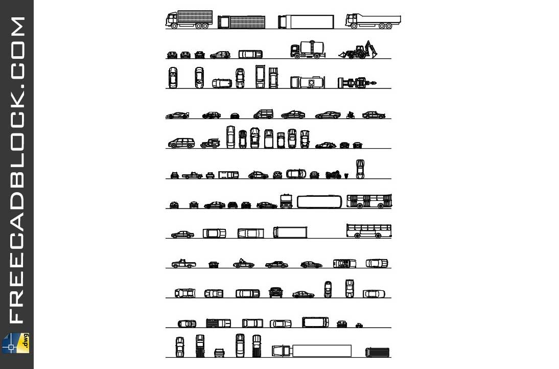 Drawing Cars Trucks in plan