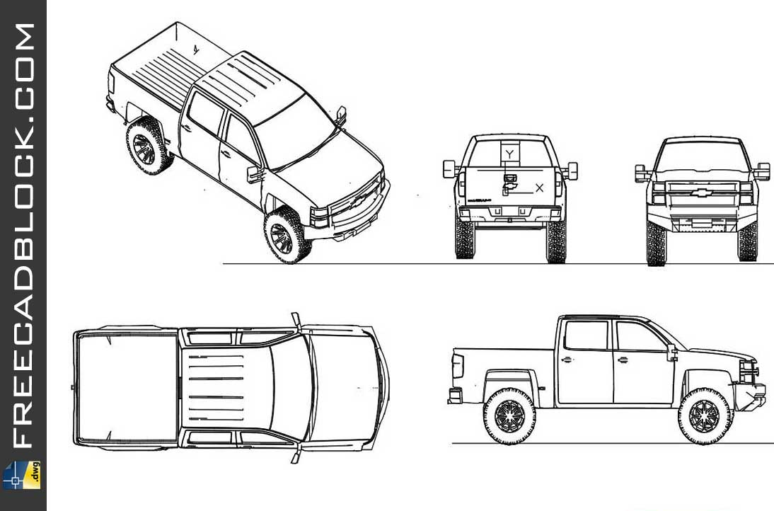 Drawing Chevrolet Cheyenne 2014 dwg