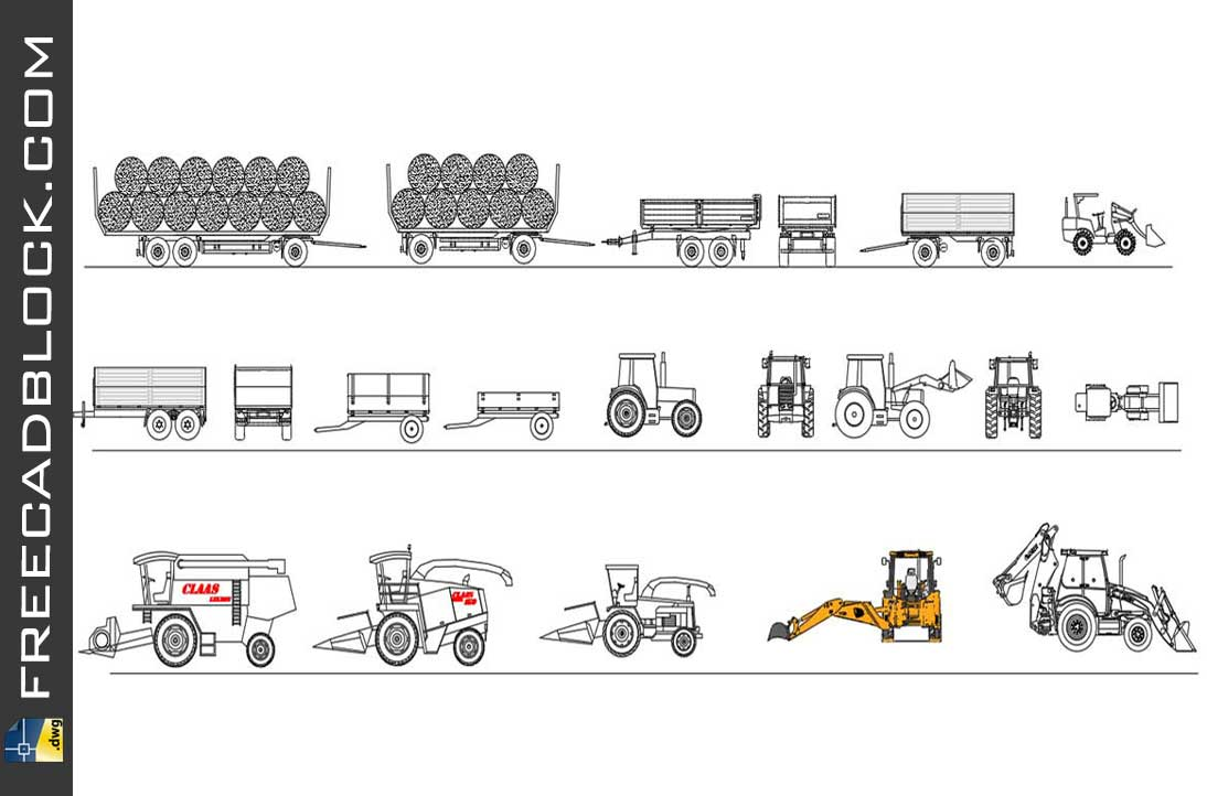 Drawing Agricultural Machinery dwg in Autocad