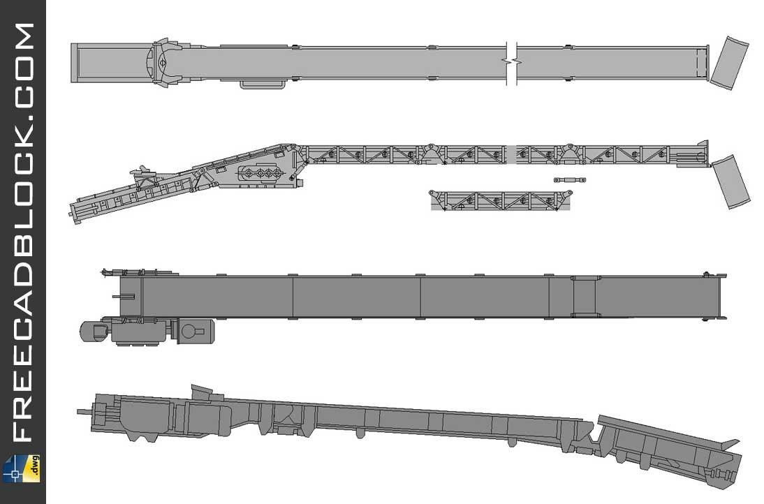 Drawing Belt Loader dwg in autocad