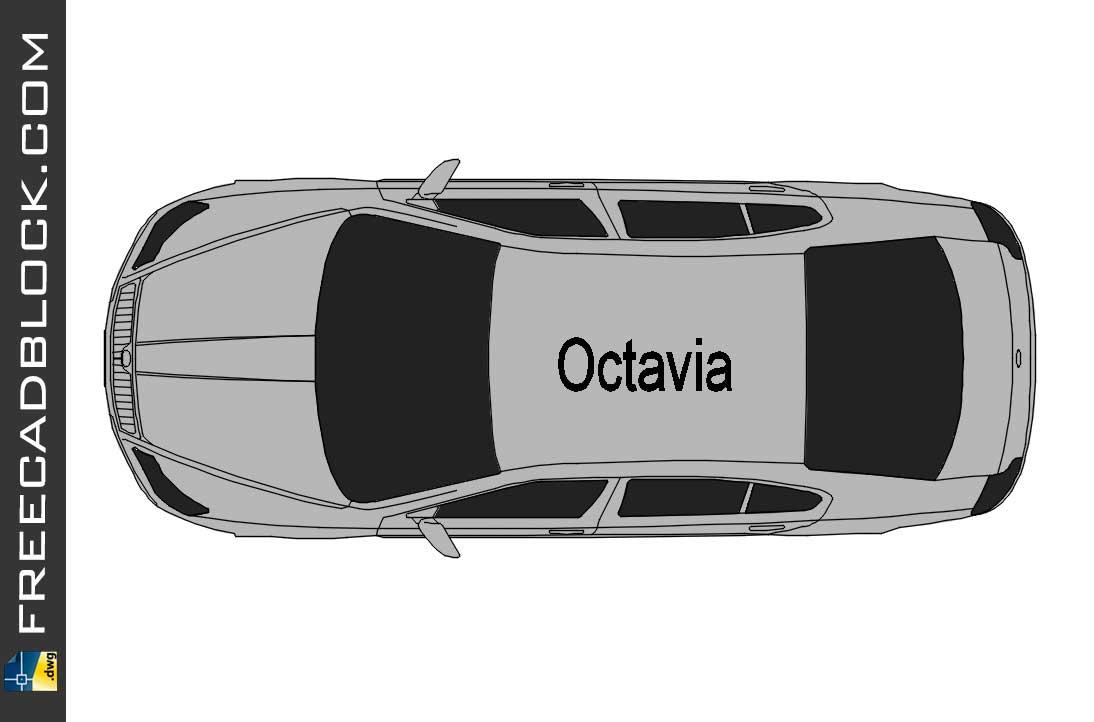 Drawing Skoda Octavia TOP Dwg in Autocad