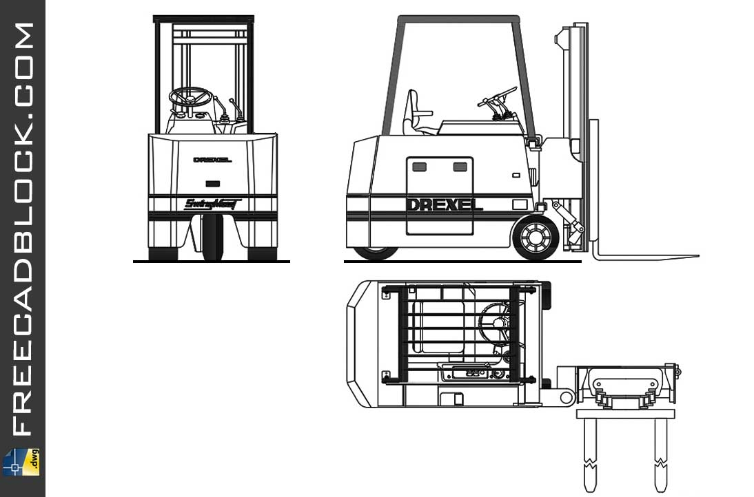 Drawing Forklift dwg in Autocad