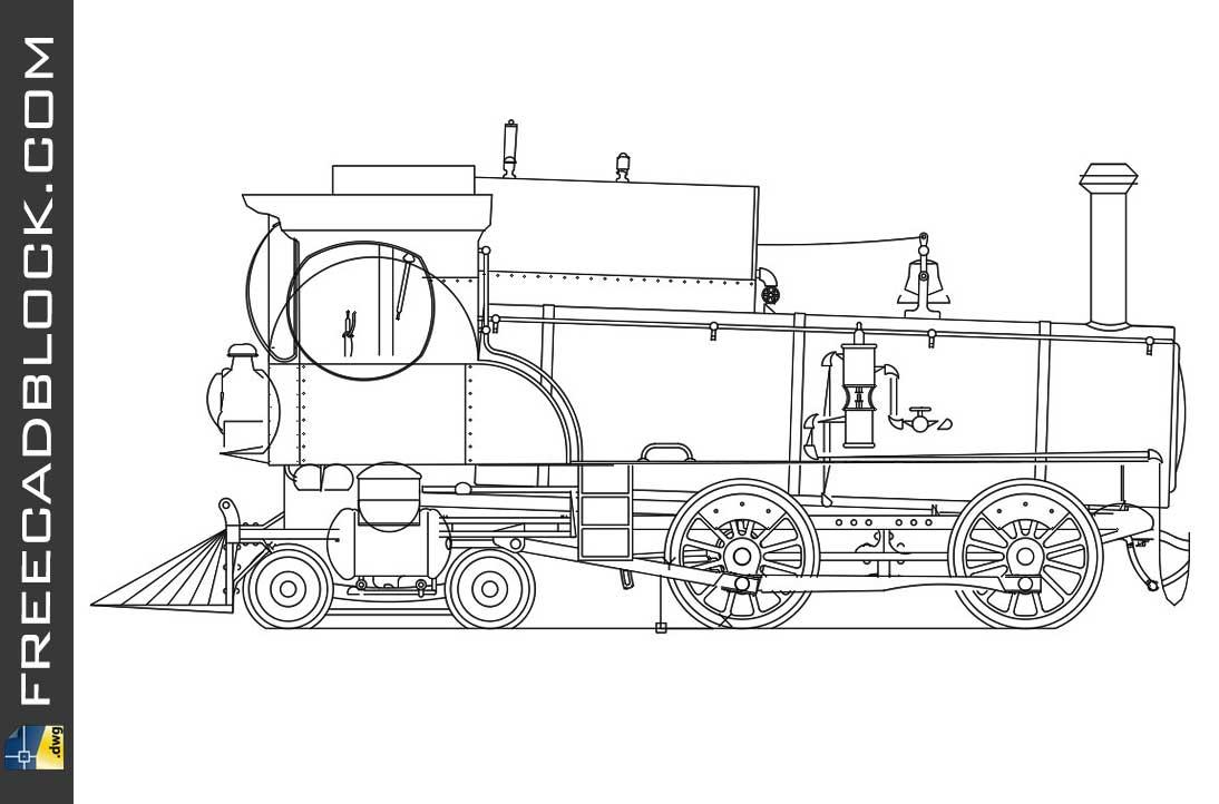 Drawing Historic Locomotive Dwg