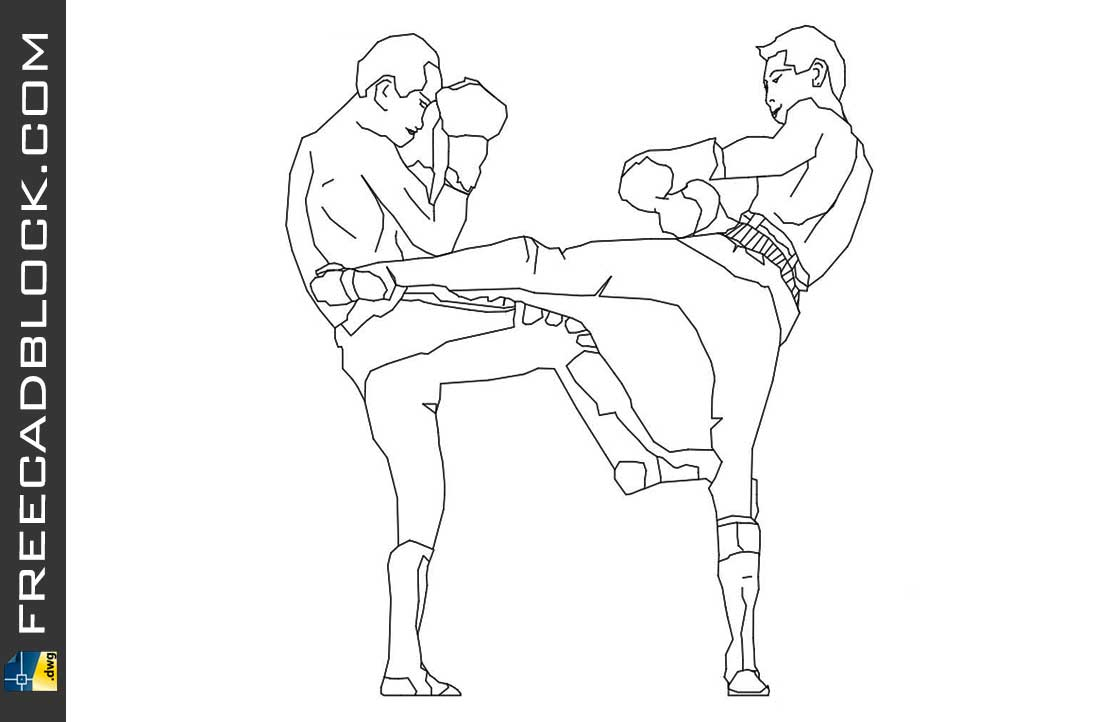 Drawing Kickboxers dwg blocks