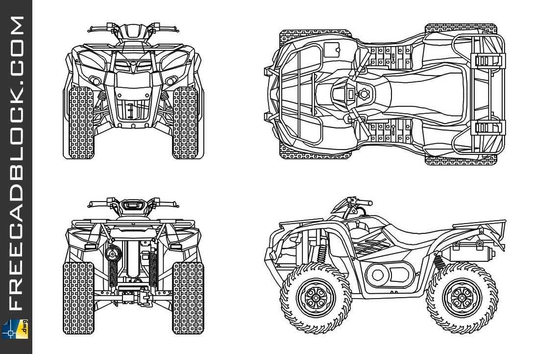 Download Free QUAD drawings dwg