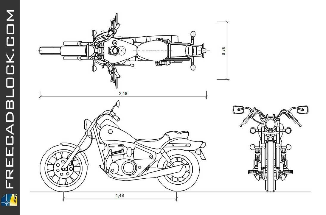 Drawing Suzuki Savage CHOPPER dwg