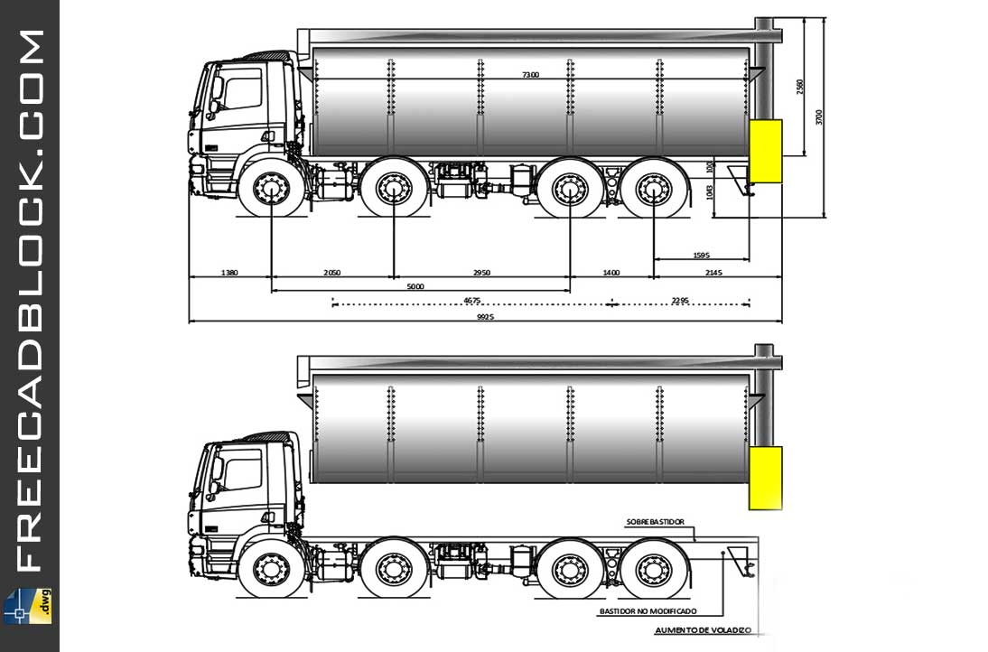 Drawing Daf trucks Dwg in Autocad 2D