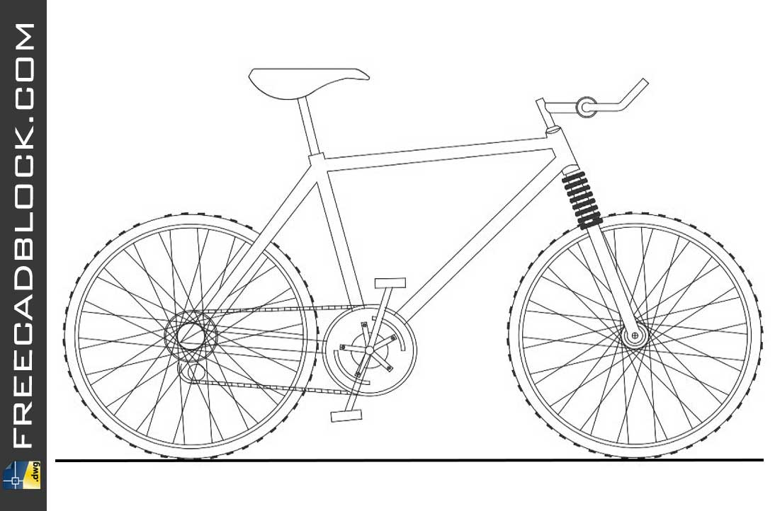 Drawing Cros bike cad dwg