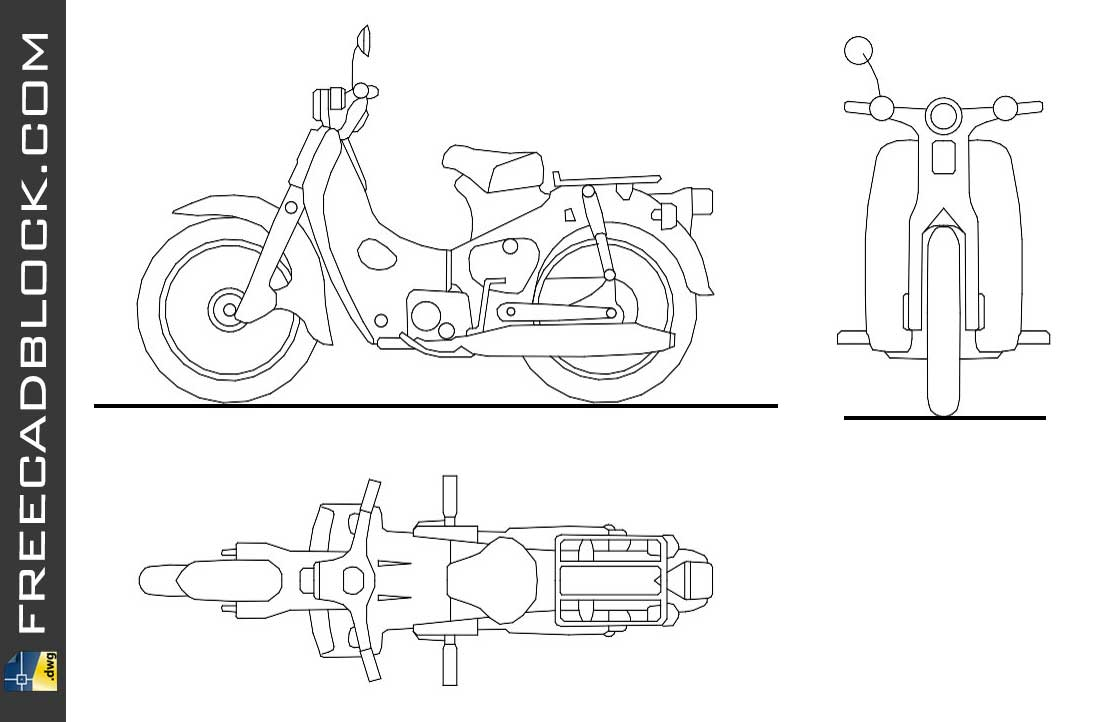 Drawing Motoneta cad dwg