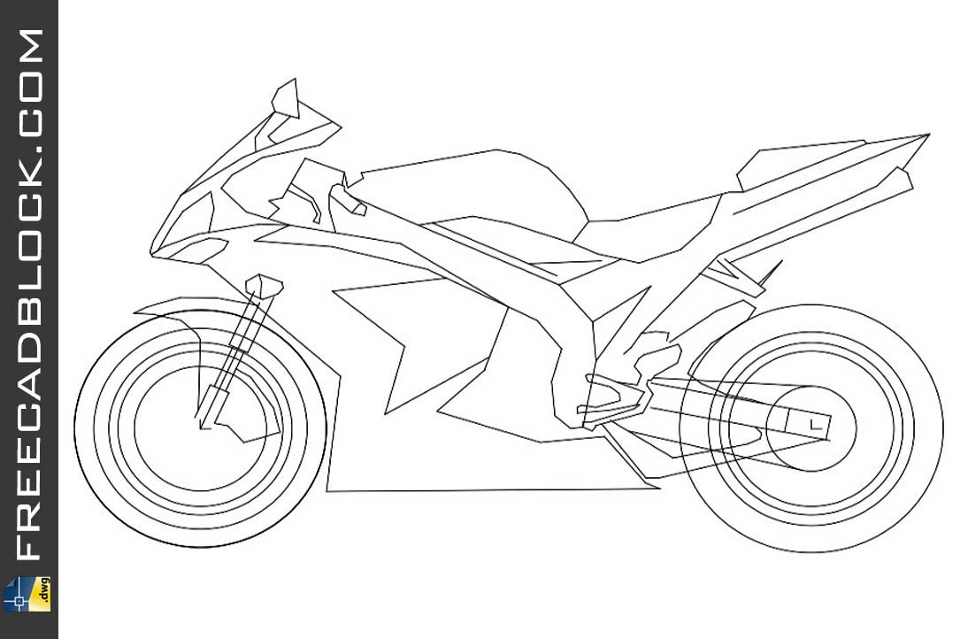 Drawing Motorcycles cad dwg