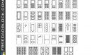 Types of door dwg CAD blocks