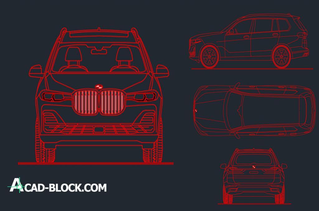 BMW X7 dwg autocad