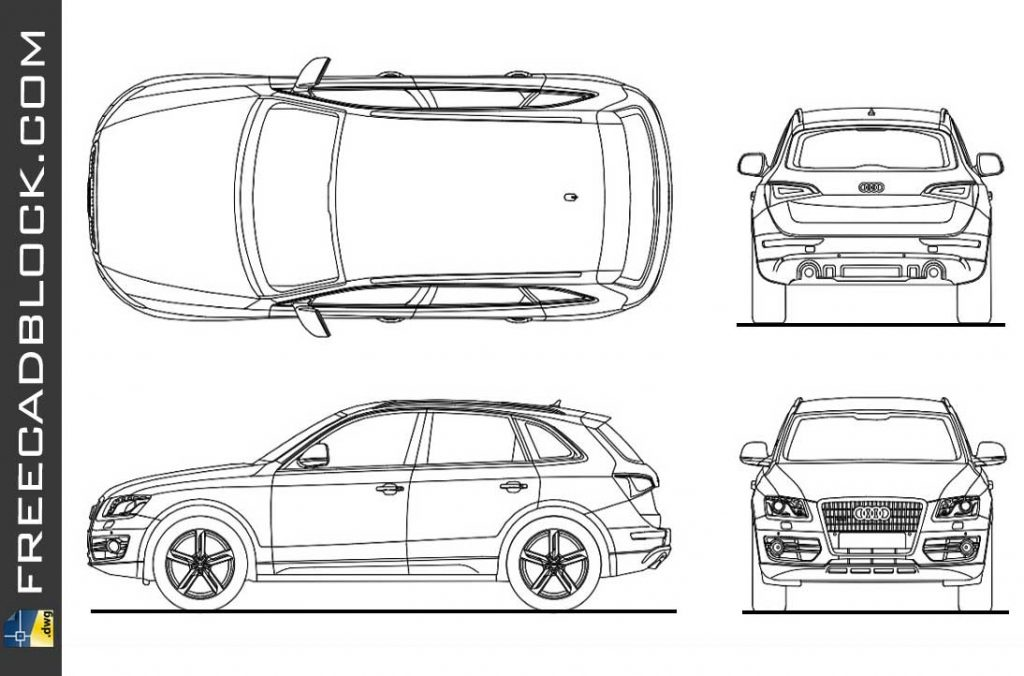 Audi q5 dwg Free DRAWING