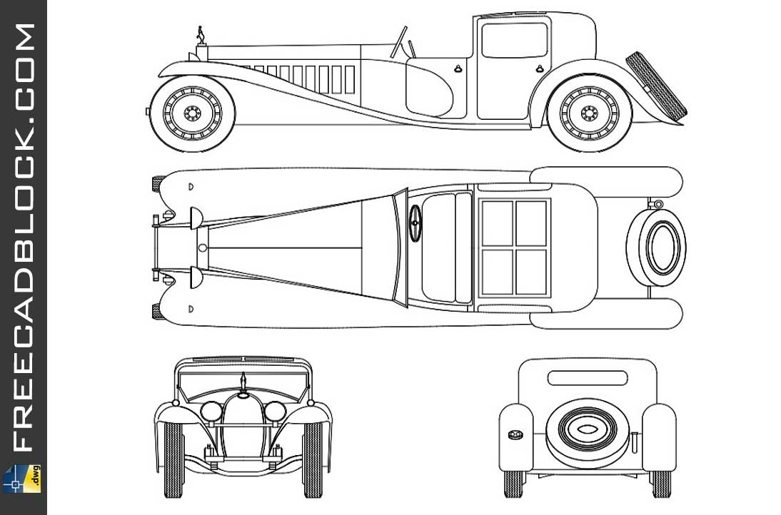 Drawing in Autocad Bugatti Royale