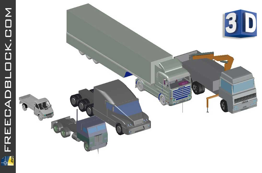 Drawing 3D truck dwg