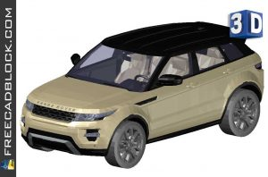 Drawing Range Rover Evoque 3D DWG