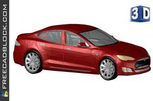 3D Tesla Model S dwg