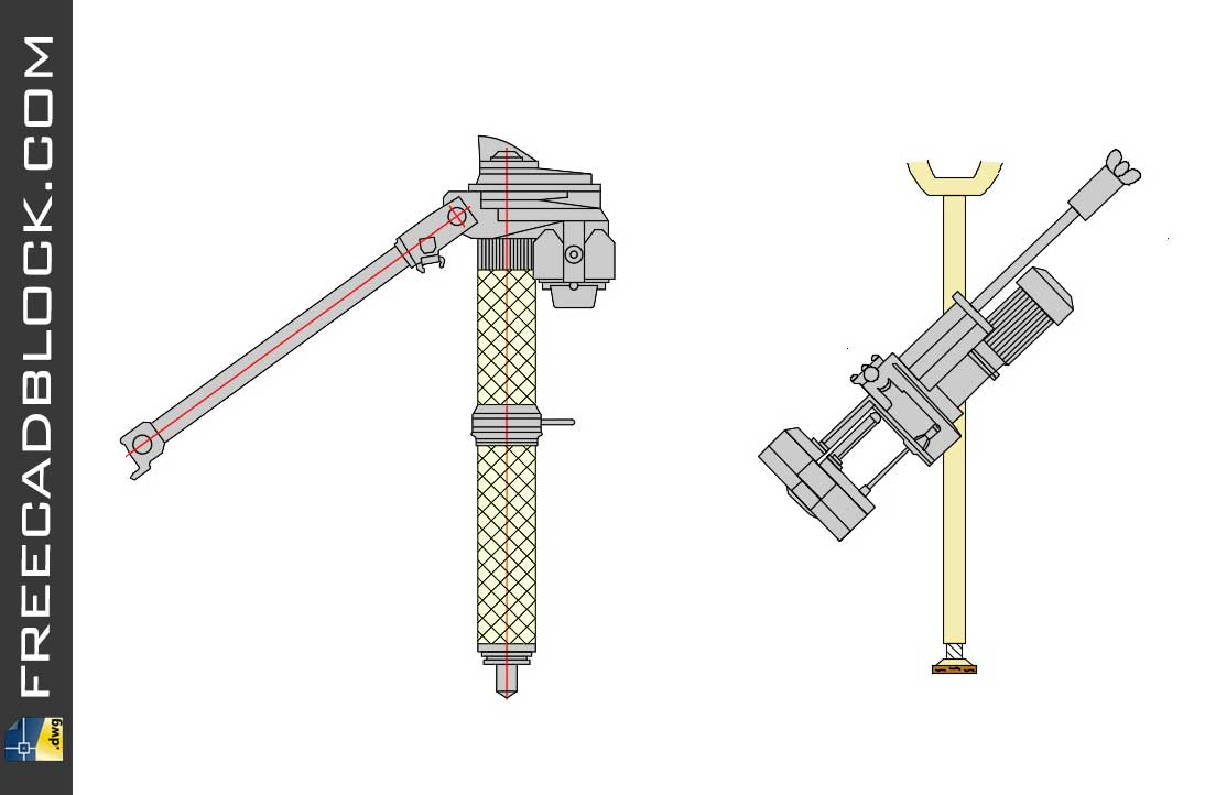 Drawing Drilling equipment cad blocks dwg