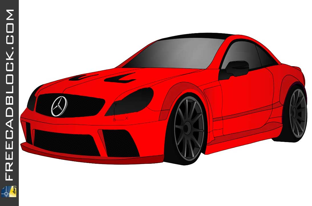 Drawing Mercedes CL 65 AMG DWG