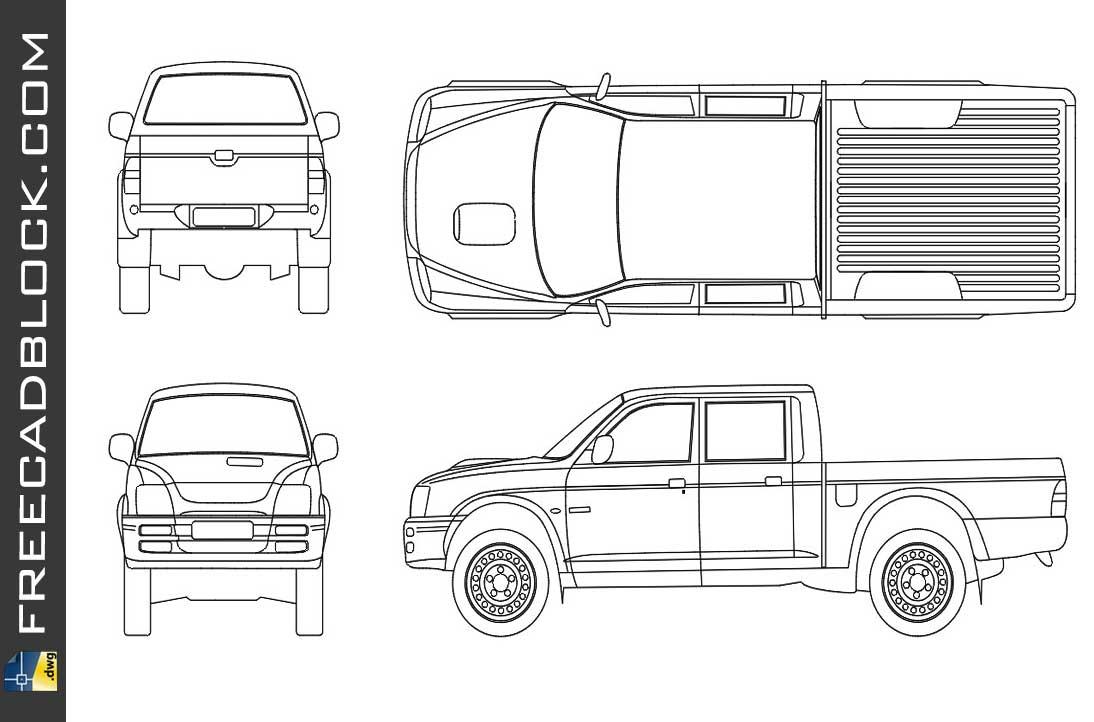 Drawing Mitsubishi L200  2007 dwg