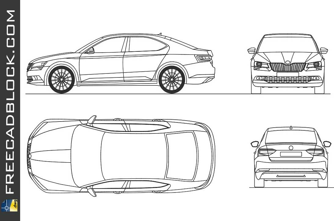 Drawing Skoda Superb 2015 dwg