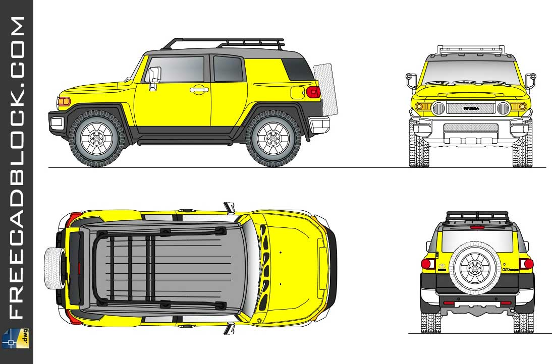 Drawing Toyota FJ Cruiser 2015 dwg