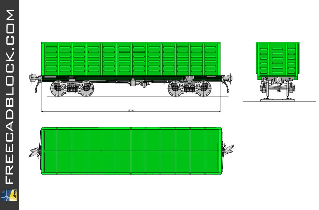 Drawing Railway carriage DWG