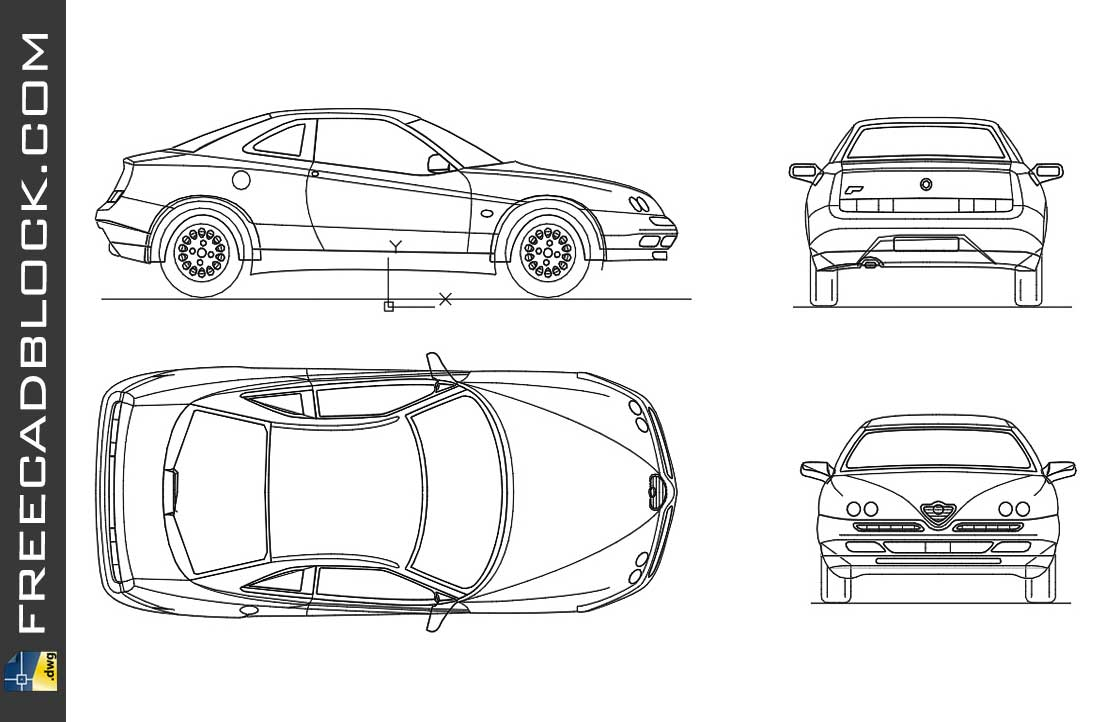 Drawing Alfa Romeo GTV dwg