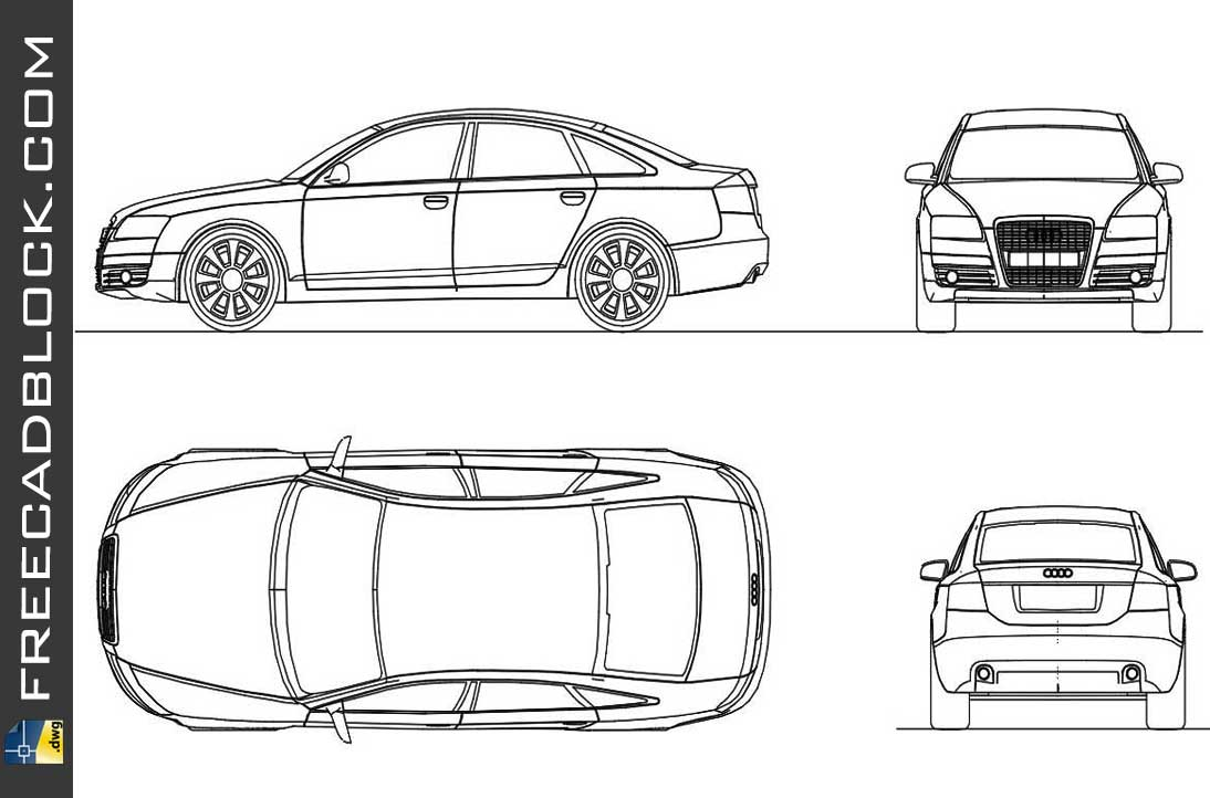 Drawing Audi A6 dwg in Autocad