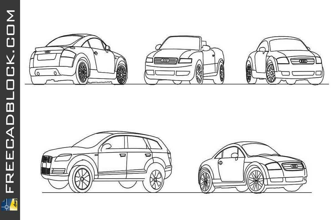 Drawing Audi Car dwg