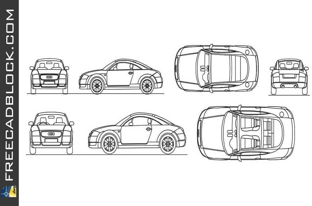 Drawing Audi TT dwg in Autocad