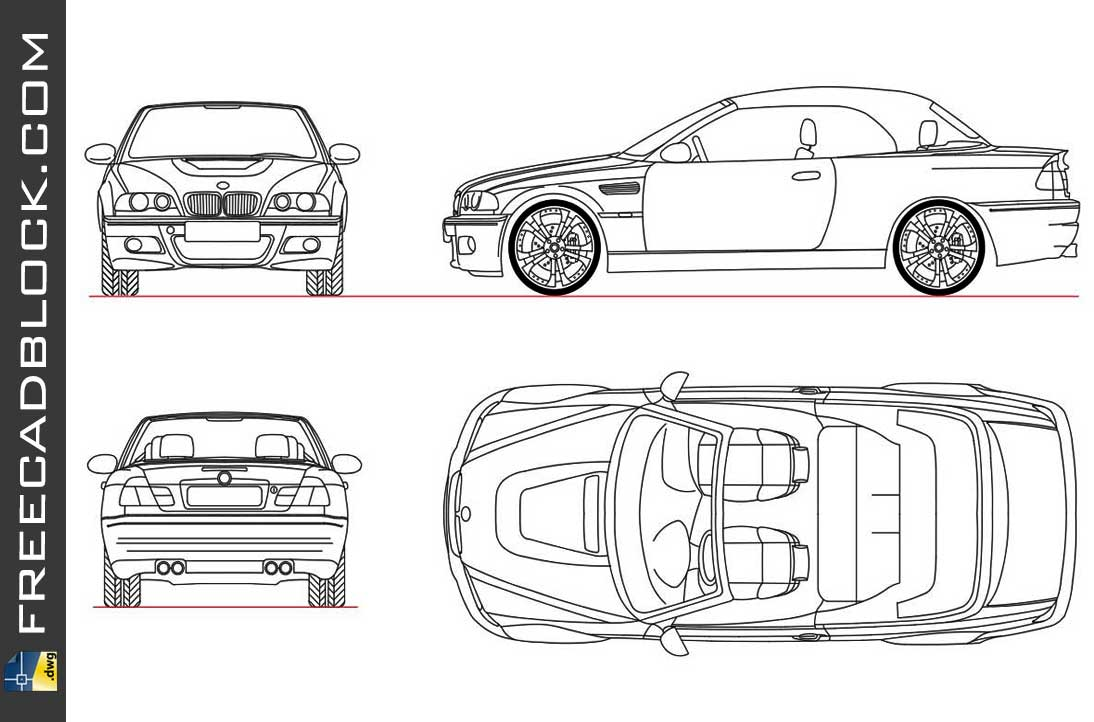Drawing BMW M3 CONV 2007 dwg