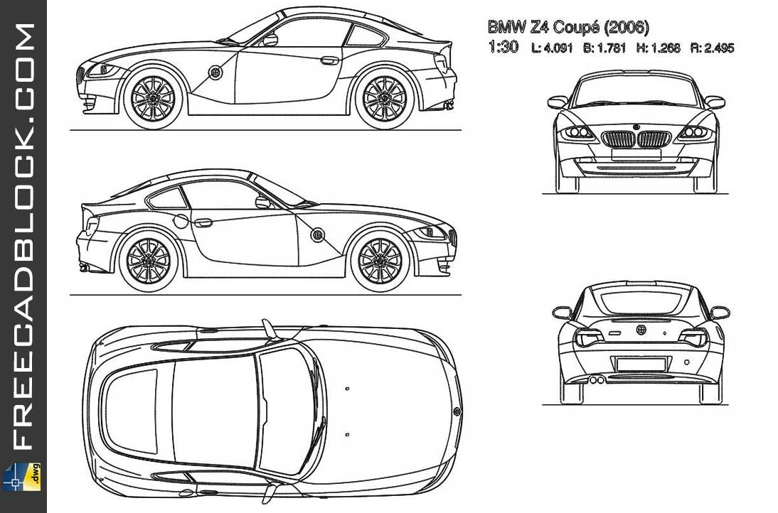 Drawing BMW Z4 Coupe 2006 dwg