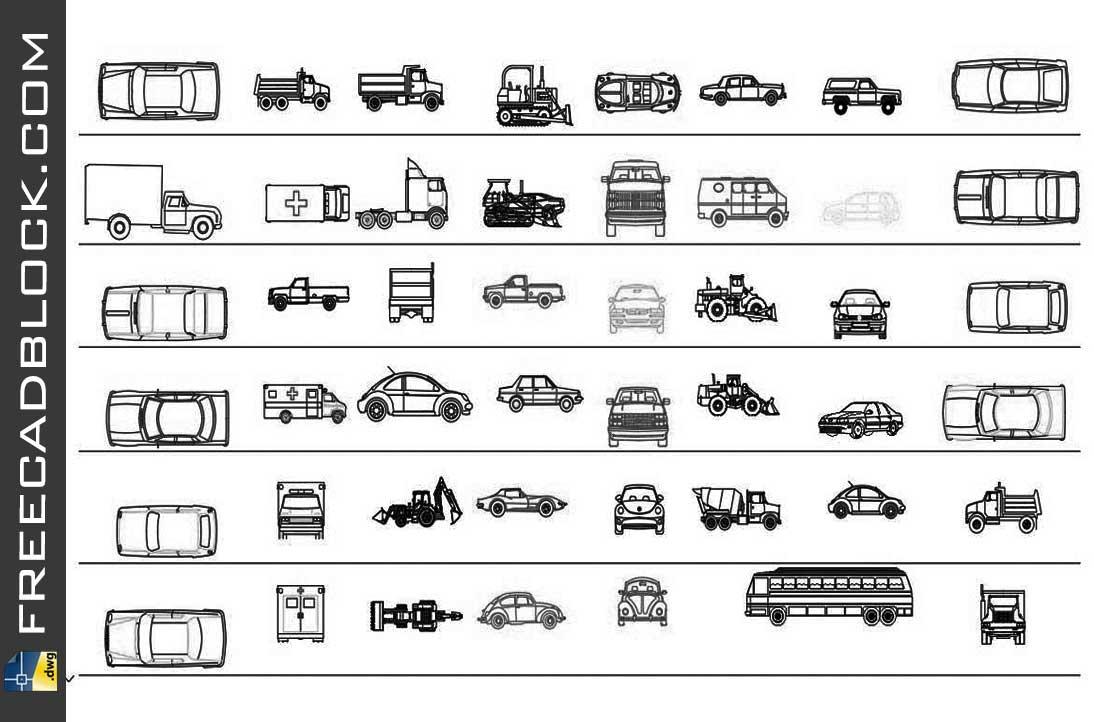 Drawing Blocks Automoviles dwg