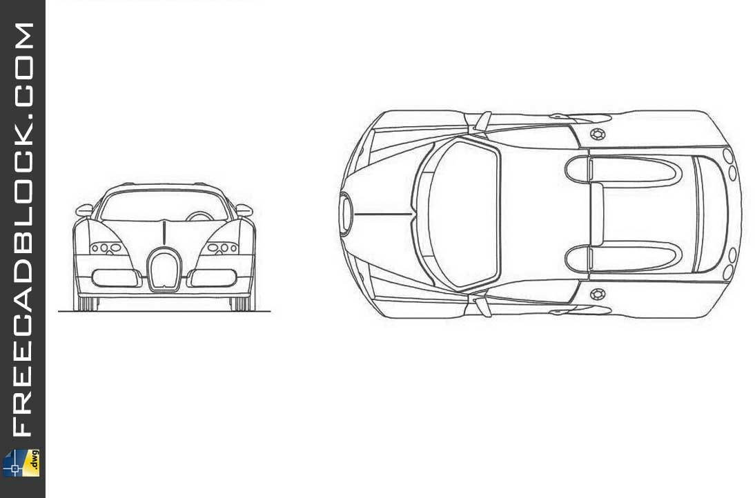 Drawing Bugatti cad in Autocad